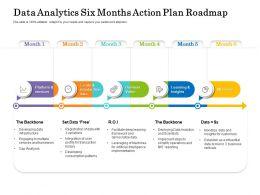 Data Analytics Six Months Action Plan Roadmap