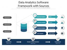 Data Analytics Software Framework With Sources