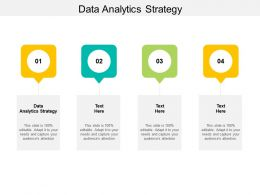 Data Analytics Strategy Ppt Powerpoint Presentation Visuals Cpb