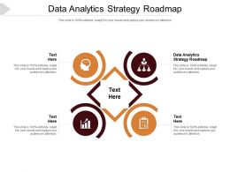 Data Analytics Strategy Roadmap Ppt Powerpoint Presentation Summary Display Cpb