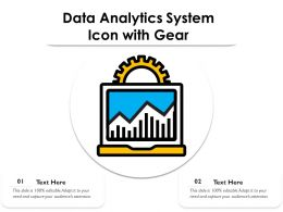 Data Analytics System Icon With Gear