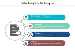 Data Analytics Techniques Ppt Powerpoint Presentation Model Themes Cpb