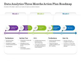 Data Analytics Three Months Action Plan Roadmap