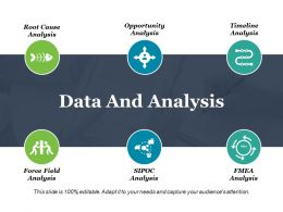Data And Analysis Ppt Slide Examples