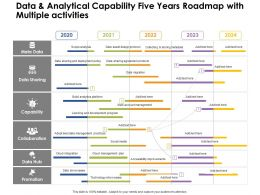 Data And Analytical Capability Five Years Roadmap With Multiple Activities