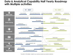 Data And Analytical Capability Half Yearly Roadmap With Multiple Activities