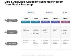 Data And Analytical Capability Refinement Program Three Months Roadmap