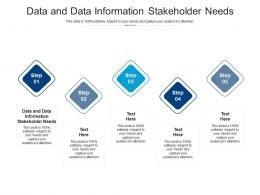 Data And Data Information Stakeholder Needs Ppt Powerpoint Presentation Icon Cpb