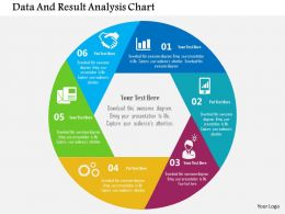 Data And Result Analysis Chart Flat Powerpoint Design