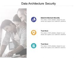 Data Architecture Security Ppt Powerpoint Presentation Pictures Templates Cpb