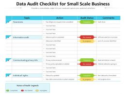 Data Audit Checklist For Small Scale Business