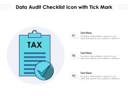 Data Audit Checklist Icon With Tick Mark
