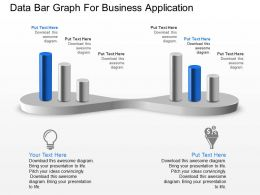 Data Bar Graph For Business Application Powerpoint Template Slide