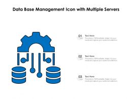 Data Base Management Icon With Multiple Servers