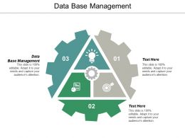 Data Base Management Ppt Powerpoint Presentation Portfolio Background Images Cpb