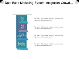 Data Base Marketing System Integration Crowd Fund Invest Cpb
