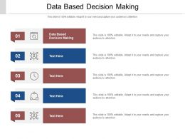 Data Based Decision Making Ppt Powerpoint Presentation Infographics Tips Cpb