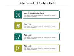 Data Breach Detection Tools Ppt Powerpoint Presentation Inspiration Graphics Design Cpb