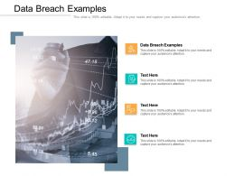 Data Breach Examples Ppt Powerpoint Presentation Outline Template Cpb