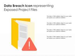 Data Breach Icon Representing Exposed Project Files