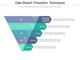 Data Breach Prevention Techniques Ppt Powerpoint Presentation Infographics Skills Cpb