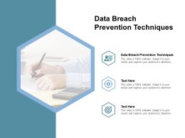 Data Breach Prevention Techniques Ppt Powerpoint Presentation Tips Cpb