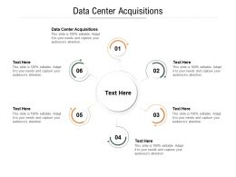 Data Center Acquisitions Ppt Powerpoint Presentation Inspiration Outline Cpb
