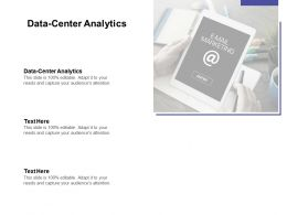 Data Center Analytics Ppt Powerpoint Presentation Outline Design Templates Cpb