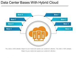 Data Center Bases With Hybrid Cloud Ppt Images Gallery
