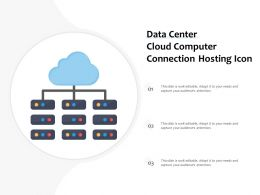 Data Center Cloud Computer Connection Hosting Icon
