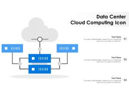 Data Center Cloud Computing Icon