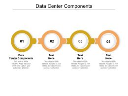 Data Center Components Ppt Powerpoint Presentation Icon Layouts Cpb