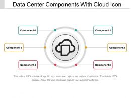 Data Center Components With Cloud Icon Ppt Samples