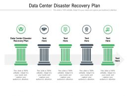 Data Center Disaster Recovery Plan Ppt Powerpoint Presentation Ideas Slideshow Cpb