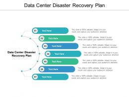 Data Center Disaster Recovery Plan Ppt Powerpoint Presentation Slides Graphics Download Cpb