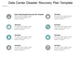 Data Center Disaster Recovery Plan Template Ppt Powerpoint Presentation Infographics Background Cpb