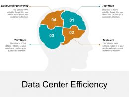 Data Center Efficiency Ppt Powerpoint Presentation Layouts Slideshow Cpb