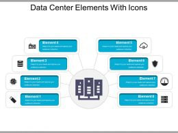 Data Center Elements With Icons Ppt Presentation