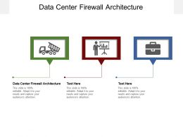 Data Center Firewall Architecture Ppt Powerpoint Presentation File Templates Cpb
