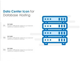 Data Center Icon For Database Hosting