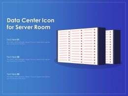Data Center Icon For Server Room