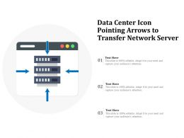 Data Center Icon Pointing Arrows To Transfer Network Server