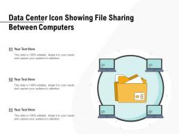 Data Center Icon Showing File Sharing Between Computers