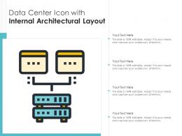 Data Center Icon With Internal Architectural Layout