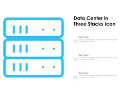 Data Center In Three Stacks Icon