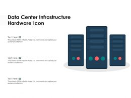 Data Center Infrastructure Hardware Icon