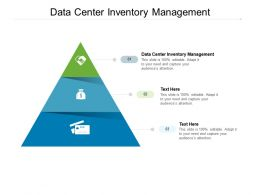 Data Center Inventory Management Ppt Powerpoint Presentation Graphic Images Cpb