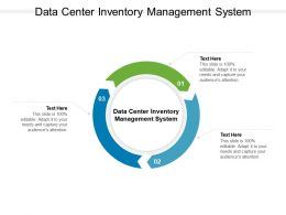 Data Center Inventory Management System Ppt Powerpoint Presentation Pictures Cpb