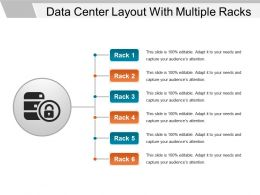 Data Center Layout With Multiple Racks Ppt Sample File