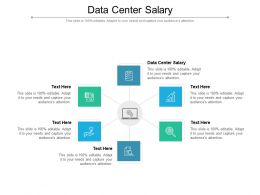 Data Center Salary Ppt Powerpoint Presentation Layouts Maker Cpb